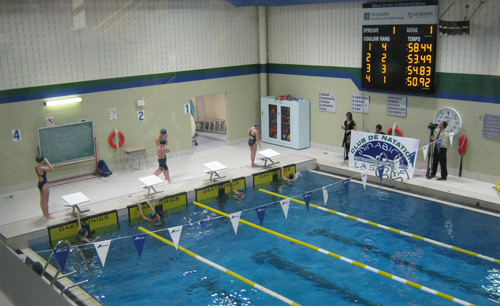 Aquatic timing photo gallery daktronics products for Club piscine gatineau qc