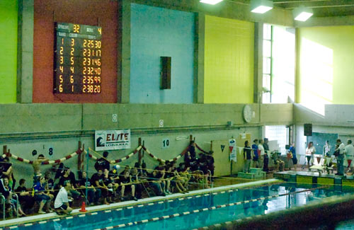 Aquatic timing daktronics chronom trage aquatique for Club piscine longueuil
