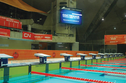 Aquatic timing daktronics chronom trage aquatique for Club piscine saint eustache